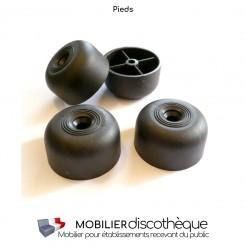 Pied PVC noir